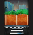 rainy day in the city vector image vector image