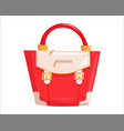 red woman handbag vector image vector image