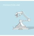 Robotic production line Manufacturing and vector image vector image