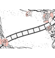 roses and film strip vector image vector image