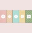 set colorful seamless geometric ornamental vector image vector image