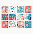 set with abstract pattern vector image vector image