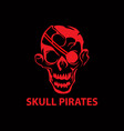 skull pirates vector image vector image