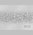 sparkling glitter border on grey background vector image vector image
