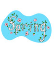 spring banner sketched doodle hand drawn flowers vector image vector image