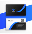 stylish blue professional business card design vector image vector image