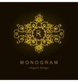 Stylish elegant monogram mono line art design vector image vector image