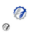tech helping hand concept logo vector image vector image