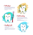 Teeth brushing concept vector image vector image