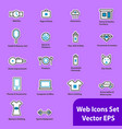 the set of flat icons for web sites vector image vector image