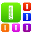 thermometer set collection vector image vector image