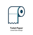 toilet paper lineal color icon vector image
