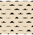 Vintage dad mustaches seamless pattern vector image vector image