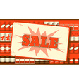 Vintage sale sign vector image vector image