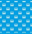 white window frame pattern seamless blue vector image