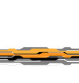 yellow grey line futuristic on white blank space vector image vector image
