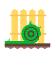 Lawn Fence Flat vector image