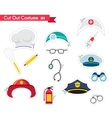 accessories for different proffestions costumes vector image
