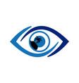 abstract eye island archipelago icon logo vector image