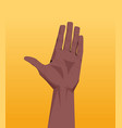african american human hand showing gesture vector image