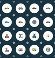 automobile icons colored line set with gear sport vector image vector image