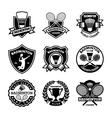 Badminton Badges vector image vector image