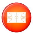 Basketball field icon flat style vector image vector image
