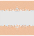 beautiful frame in peach color for wedding vector image vector image