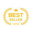 best seller ceremony award laurel winner best vector image