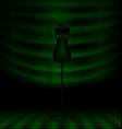 black craft dummy in the dark green room vector image vector image