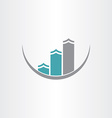 buildings icon abstract design vector image vector image