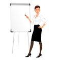 Businesswoman character presentation vector image vector image