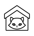 cat nose funny animal house pet outline vector image vector image