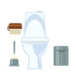 ceramic toilet and other common washroom vector image vector image