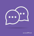 chat online outline icon white color vector image