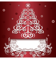 christmas tree graphic vector image vector image