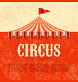 circus advertisement vintage poster background vector image vector image