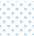 cloud rain pattern seamless vector image vector image