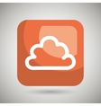 cloud square button isolated icon design vector image