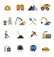 Coal Industry Icons vector image vector image