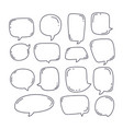 collection speech bubble or chat elements in vector image vector image
