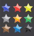 color star button with sparkle vector image vector image