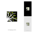 colorful tree logo design template luxury tree vector image vector image