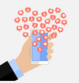 concept of the popularity in social networking vector image