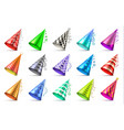 cone paper hat with birthday decoration elements vector image vector image