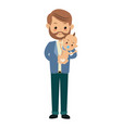 cute father holding her baby son image vector image vector image