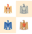 egyptian eagle icon set in flat and line style vector image
