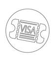 entrance visa icon vector image