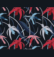 exotic tropical flowers orchid pattern jungle vector image