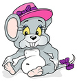 Female Mouse Sitting vector image vector image